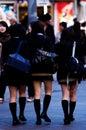 Muchachas de la escuela de Tokio Fotos de archivo libres de regalías