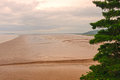 Mud flats at low tide on the bay of fundy Stock Photos