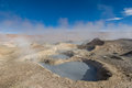 Mud geyser altiplano bolivia south america Stock Images
