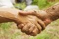 Mud handshake
