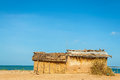 Mud house typical housing wayuu indians la guajira colombia beach Stock Images