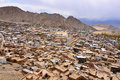 Mud houses in Leh Ladakh Royalty Free Stock Photo