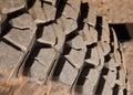 Mud terrain tire. Royalty Free Stock Photos