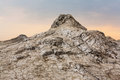 Mud volcano and cracked earth in romania Royalty Free Stock Photography