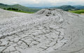 Mud volcano erupting with dirt Royalty Free Stock Photo