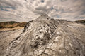 Mud volcano a landscape of a Stock Photos