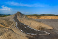 Mud volcanoes in buzau romania strange landscape produced bu active location Stock Image