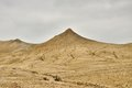 Mud volcanoes peak muddy landscape from buzau romania Royalty Free Stock Image