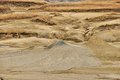 Mud volcanoes peaks muddy landscape from buzau romania Royalty Free Stock Images