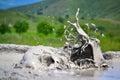 Mud vulcano erupting Royalty Free Stock Photo