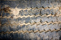 Muddy Rubber Tire Tread