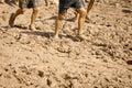 Muddy Runners Royalty Free Stock Photo