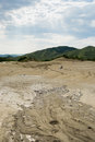 Muddy volcano scenery Royalty Free Stock Photo