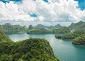 Mue koh angthong national marine park samui thai bird eye view of Royalty Free Stock Image