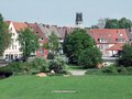 Muenster idyllic scene in a city in north rhine westphalia germany Stock Photos