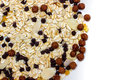 Muesli breakfast a with chocolate chips and almonds Stock Image