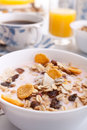 Muesli, coffee and juice Royalty Free Stock Photo