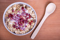 Muesli delicious and healthy granola or with lots of dry fruits nuts berries and grains Royalty Free Stock Image