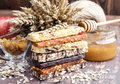 Muesli and dried fruit bars Royalty Free Stock Photo