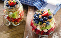 Muesli and fresh berries Royalty Free Stock Photo