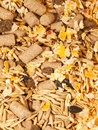 Muesli for horse background close up studio Stock Photography