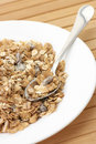 Muesli in plate Stock Photos