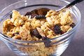 Muesli with raisins for breakfast Stock Photography