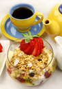 Muesli And Tea Royalty Free Stock Photography