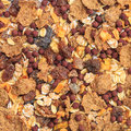 Muesli view of organic background texture Royalty Free Stock Images