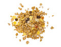 Muesli on the white background Royalty Free Stock Photos