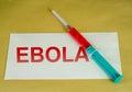 Muestra de ebola Imagen de archivo libre de regalías