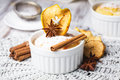 Muffin apple cinnamon decorated anise star Royalty Free Stock Photography