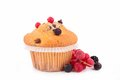 Muffin and berries Royalty Free Stock Images
