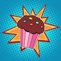 Muffin cake sweet food