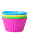 Muffin and cupcake molds colorfull Stock Images