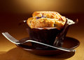 Muffin fresh on a plate Royalty Free Stock Photos