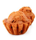 Muffin with raisins  isolated Stock Image