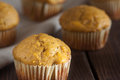 Muffin squash muffins on a wooden table Royalty Free Stock Images