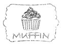 Muffin vector illustration of abstract Stock Photos