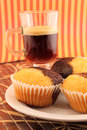 Muffins with coffee Stock Photography