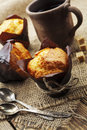 Muffins and coffee Royalty Free Stock Photo