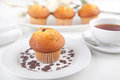Muffins with a cup of tea picture Royalty Free Stock Photo