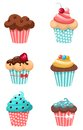 Muffins illustration of a beautiful sweet set of Royalty Free Stock Photography
