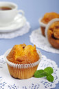Muffins with mint Royalty Free Stock Image