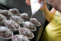 Muffins preparation Royalty Free Stock Photography