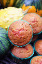 Muffins with pumpkin Royalty Free Stock Photo