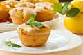 Muffins with quince Royalty Free Stock Images