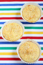 Muffins with sesame on the table Royalty Free Stock Photos