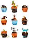 Muffins set illustration of a Royalty Free Stock Image