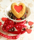 Muffins in the shape of a heart sweet gift for valentine s day Stock Images